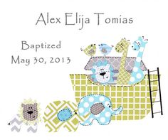 Boys Baptism Gift  Christening Gifts for Boys  Baby by SnoodleBugs, $15.00