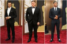 Tiny lapels! Jeremy Renner in Givenchy Jonah Hill in Dolce & Gabbana. Michael B. Jordan in Givenchy. Oscar Red Carpet Fashion Re-Cap - Tyranny of Style