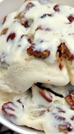 Bourbon Ice Cream with Butter Pecans