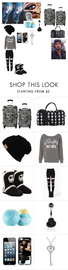 """""""Going away to visit our families for Christmas"""" by bvblunaticfringe ❤ liked on Polyvore featuring IKASE, Eos and Amanda Rose Collection"""