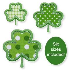 {Downloaded Under GGDesigns-PetiteShamrocksAppliqueALLFORMATS.zip K.H.}  FREE Petite Shamrocks Applique