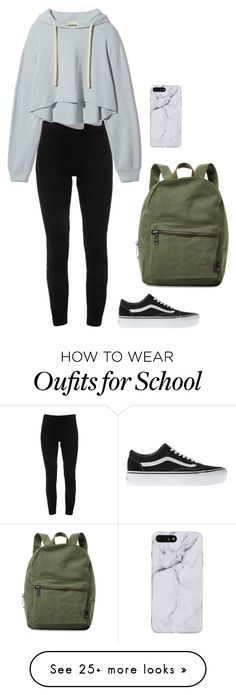 """""""ugh. school started."""" by leila-433 on Polyvore featuring Elie Tahari, Vans and Herschel Supply Co."""