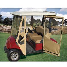 Yamaha Drive DoorWorks Enclosures Golf Cart Enclosures, Golf Cart Covers, Golf Drivers, Golf Outfit, Golf Carts, Yamaha, Doors, Club, Gate