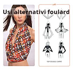 Come indossare il foulard: i suoi mille volti FOTO - http://www.wdonna.it/come-indossare-foulard/78364?utm_source=PN&utm_medium=WDonna.it&utm_campaign=78364