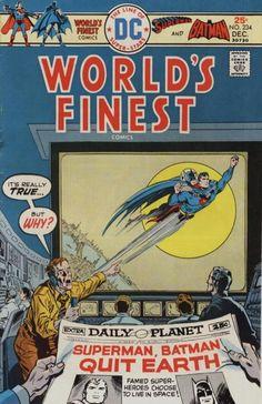 World's Finest Comics (Volume) - Comic Vine Superhero Superman, Batman And Superman, Superman Family, Vintage Comic Books, Vintage Comics, Marvel Comics Superheroes, Dc Comics, Dc World, Silver Age Comics
