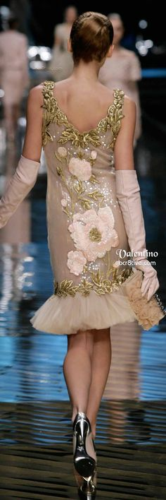 Valentino Embroidered Cocktail Dress