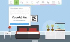"""Illustration filled One Pager revealing 10 secrets of a """"zen"""" bedroom curated by 10 lifestyle bloggers. Neat little bit of marketing (in a Single Page website) by Hillarys UK."""
