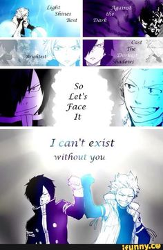 Dark needs light and light needs dark ( fairy tail) – Fairy Tale Anime Fairy Tail Sting, Fairy Tail Meme, Fairy Tail Quotes, Fairy Tail Rogue, Fairy Tail Family, Fairy Tail Couples, Nalu, Fairy Tail Dragon Slayer, Sad Anime Quotes