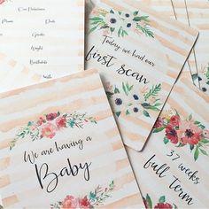 Pregnancy Baby Shower Disney Themed Pregnancy Milestone 33 Cards New Baby