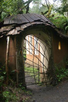 Cob gateway with stick door
