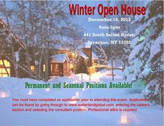 Live In Syracuse? Stop by to our Open House. It is a must this season!