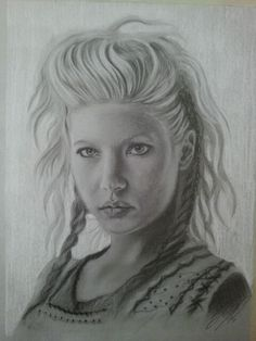 Lagertha <3 white and black charcoal