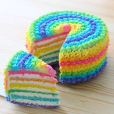 Rainbow cake recipe collection from Bengali cuisine. Always we ate cake and wants some different and some special. Rainbow cake found in market but also we can make it's in our home. Trolls Birthday Party, Troll Party, Birthday Parties, Girl Birthday Cakes Easy, Rainbow Birthday Cakes, 10 Birthday, Birthday Ideas, Round Cakes, Cake Designs