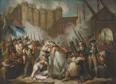 Art in Space: Henry Singleton: The Storming of the Bastille, 14 July 1789 (19th century)