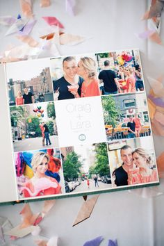 Cute photo book idea with engagement photos! #smilebooks #photobook #engagement