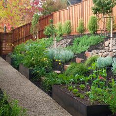 cool way to include square foot gardens as well in slope