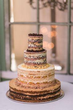 naked elegant wedding cake