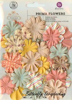 Prima Flowers 36 Flowers Princess Collection Scrapbooking Prima Inc. 574444 NEW