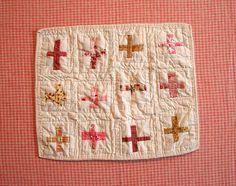 doll quilt - crosses