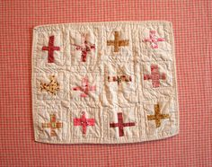 doll quilt - crosses