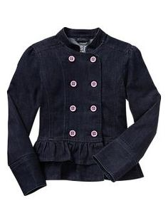 Denim peplum jacket | Gap - I think this would be a gorgeous piece for a fall photoshoot, with skinny cords or a skirt and leggings.  So cute!