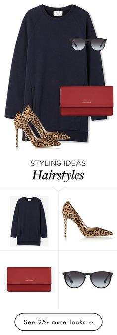 Untitled #9652 by alexsrogers on Polyvore featuring Acne Studios, Gianvito Rossi, Yves Saint Laurent and Ray-Ban