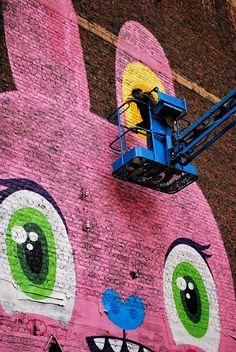 pink rabbit #streetart