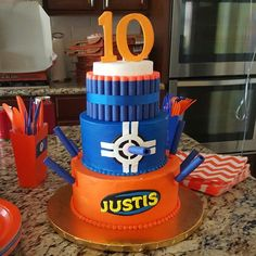 Related Image Nerf Birthday Party 11th Cake Kids Boys 10