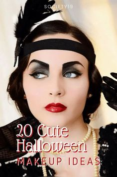 20 Cute Halloween Makeup Ideas Cute Halloween Makeup, Halloween Looks, Scary Halloween, Women Halloween, Halloween Stuff, Halloween Ideas, Zombie School Girl, Mermaid Makeup Looks, Bright Red Lipstick