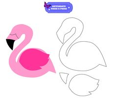 Best 12 Best 12 Patterns And Templates Flamingo Party, Flamingo Craft, Flamingo Birthday, Flamingo Pattern, Diy Arts And Crafts, Felt Crafts, Crafts For Kids, Paper Crafts, Tropical Party