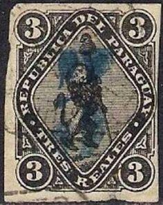 Las primeras estampillas de Paraguay fueron emitidas en 1870, tras la guerra de la Triple Alianza. Ocho años después, se sobrecargó dicha emisión, reemplazando el valor en reales por un nuevo valor en centavos. La estampilla de 5 centavos sobre 3 reales es la más valiosa del Paraguay, pudiendo llegar a 400 euros.