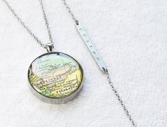 Your place to buy and sell all things handmade Resin Pendant, Pendant Necklace, Christmas Birthday, Honduras, Bronze, Necklaces, Brass, Etsy Shop, Map