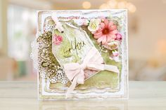 The Peach Sorbet collection brings a new concept, building on the incredibly popular torn edge collections.   For more information visit: www.tatteredlace.co.uk Peach Sorbet, Tattered Lace Cards, Shabby Chic Cards, Lace Flowers, Projects To Try, Decorative Boxes, Card Making, Concept, Crafty