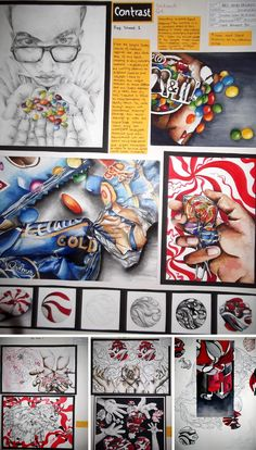 These CIE AS Level Art & Design Coursework and examination projects were produced by Hamad Ali, a high school student from Pakistan. A Level Art Sketchbook, Sketchbook Layout, Sketchbook Ideas, 4k Photography, Kirlian Photography, Photography School, Photography Backdrops, Outdoor Photography, School