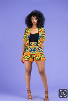 Fabba African Print Shorts By Diyanu - African Plus Size Clothing at D'IYANU - Women's style: Patterns of sustainability African Fashion Ankara, Latest African Fashion Dresses, African Print Fashion, Africa Fashion, African Wear, African Attire, Modern African Fashion, African Style, African Print Pants