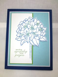 Stampin Up Best Thoughts, Petite Pairs, Handmade Sympathy Card Stampin Amore