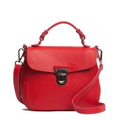 Roots - Mademoiselle Bag Parisian - great colour and very feminine - oh so practical with the long crossbody strap too! Sweet Bags, Leather Shoulder Bag, Shoulder Bags, Red Bags, Parisian, Passion For Fashion, Purses And Bags, Satchel, Handbags