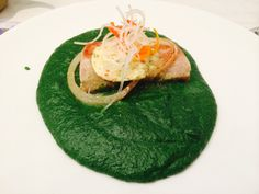 Delicious grouper grilled, seasoned with sea salt, on top of a bed of spinach pure!
