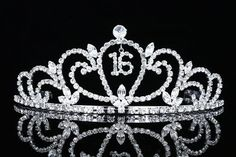 Sweet 16 Birthday Party Princess Rhinestone Crystal Tiara Crown by Venus Jewelry. $19.99