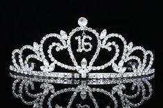 Sweet 16 Birthday Party Princess Rhinestone Crystal Tiara Crown by Venus Jewelry. $19.99