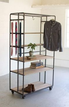 Doubled Rolling Storage Rack