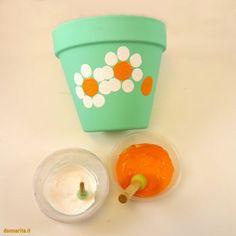 Flower Pot Art, Flower Pot Crafts, Clay Pot Crafts, Decorated Flower Pots, Painted Flower Pots, Painted Pots, Fun Crafts For Kids, Diy And Crafts, Diy Garden Projects