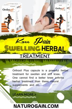 Herbal treatment for swollen and stiff knee provides relief from arthritis knee pain and swelling to improve flexibility of the joints naturally. Yoga For Arthritis, Knee Arthritis, Arthritis Pain Relief, Stiff Knee, Swollen Knee, Knee Osteoarthritis, Knee Pain Relief