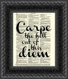 Carpe Diem Quote, Seize the Day Dictionary Print, New Year's Wall Decor Inspirational Art Print, Motivational Quote Graduation New Year Gift on Etsy, Wall Quotes, Me Quotes, Motivational Quotes, Inspirational Quotes, Quotable Quotes, Carpe Diem Quotes, Latin Quotes, Graduation Quotes, Susa
