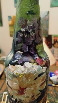 #DecorByTuckerDemps  Original oil on glass bottle.