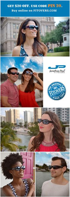 $20 OFF on Fitovers Sunglasses from Jonathan Paul Eyewear. Use code PIN20 at checkout. These are Sylish, Comfortable and Strong. Trusted for 24 years by eyecare professionals across the world. Buy Online on fitovers.com