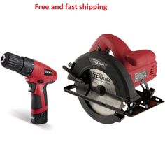 New Lithium-ion Drill Driver and 12A Circular Saw Combo Kit Hyper Tough 12V #HyperTough