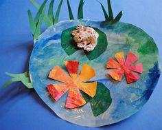 Introducing kids to the life and art of Claude Monet.  You may want to use one of these three books with this activity:  Monet by Mike Venezia,  The Magical Garden of Claude Monet by Laurence Anholt or  Once upon a Lily Pad by Kathleen Fein .  Enjoy one of the masters