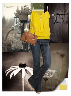 """""""Yellow"""" by cindycook10 ❤ liked on Polyvore featuring mode, Steve Madden, See Thru Soul, Morgan, Michael Kors en Just Jules"""
