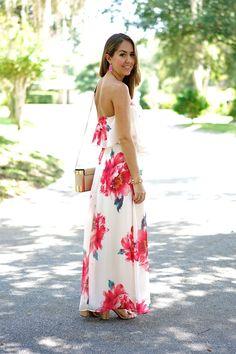 Pink floral maxi